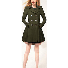 2016 New Arrived Women Coat For Winter Slim Long Sleeve Solid Color Double-breasted Casual Wind Coat With High Quality S23241