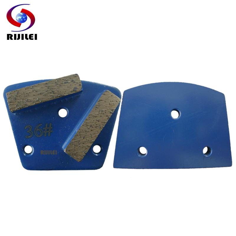 RIJILEI 30PCS / tétel Trapéz fém gyémánt csiszolókorongok Pad erős mágneses csiszoló cipőlemez beton padlócsiszoló A10