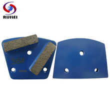 RIJILEI 30PCS/lot Trapezoid Metal Diamond Grinding discs Pad strong magnetic Grinding shoes plate of concrete floor grinder A10 - DISCOUNT ITEM  33% OFF Tools