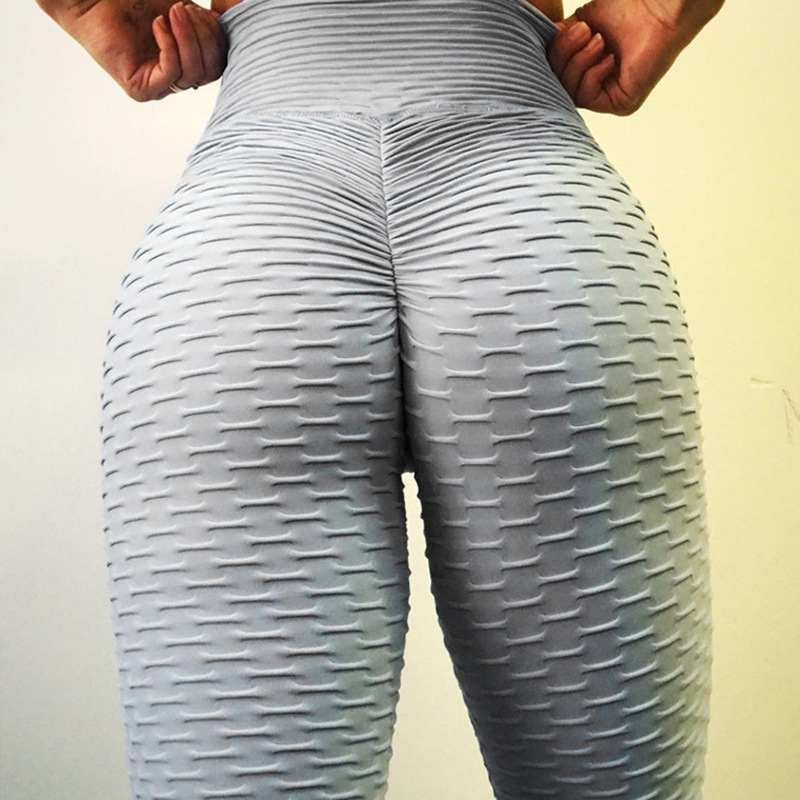 2018 frauen Hohe Taille Push-Up-Leggings Cellulite Versteckt Flex Leggings fitness textur Legging Hohe Taille Leggings Yoga Hosen