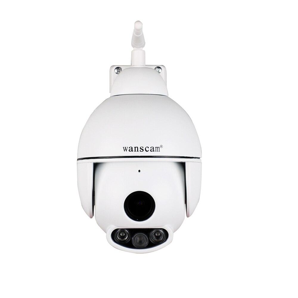 Wanscam Беспроводная наружная IP скоростная купольная камера Wifi HD 1080 P PTZ наружная безопасность CCTV Фокус 5X зум SD карта