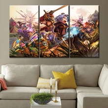 Canvas Print Game Poster One Set 3 Pcs Style Picture On Type And The Wall Decor League Of Legends Hero Painting