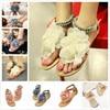 VSEN Hot Gladiator Sandals For Women Bohemia Beaded Summer Flower Flat Heels Flip Flops Women S