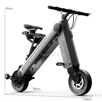 10 inches Electric scooter Smart city walking electric bicycle mini folding electric bike instead walking tool 36v li ion ebike