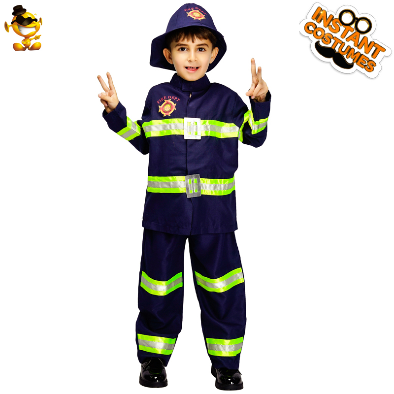 Smart M~xl New Fireman Boys Cosplay Hallowean Children Dress Up Party Fancy Stage Carnival Costume Kids Firefighters Uniform Suit Kids Costumes & Accessories Back To Search Resultsnovelty & Special Use