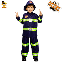 DESPLAY Handsome Boys Child Fireman Costume New Style Firefighter Boys Cool Fancy Suit Cosplay for Carnival Party Costumes