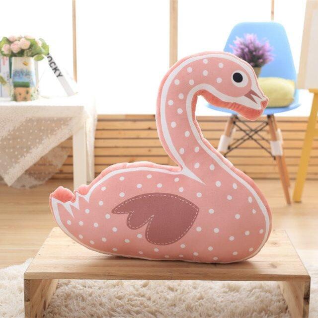 Pink Swam Bear Raccoon Ins Kids Boys Girls Room Dtuff Baby Plush Calm Sleeping Dolls Toy Car Seat Bed Cushion Toy Doll