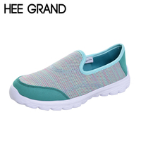 Hee Grand 2017 Comfort Casual Woman Shoes Convenient Breathable Mesh Flats Slip On Woman Loafers Creepers