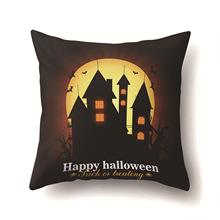 Halloween Haunted House Dry Tree Castle throw pillow covers case Gloomy Moonlight Night Horror Series Cushion Cover Home 18 halloween castle blood starry moon printed pillow case
