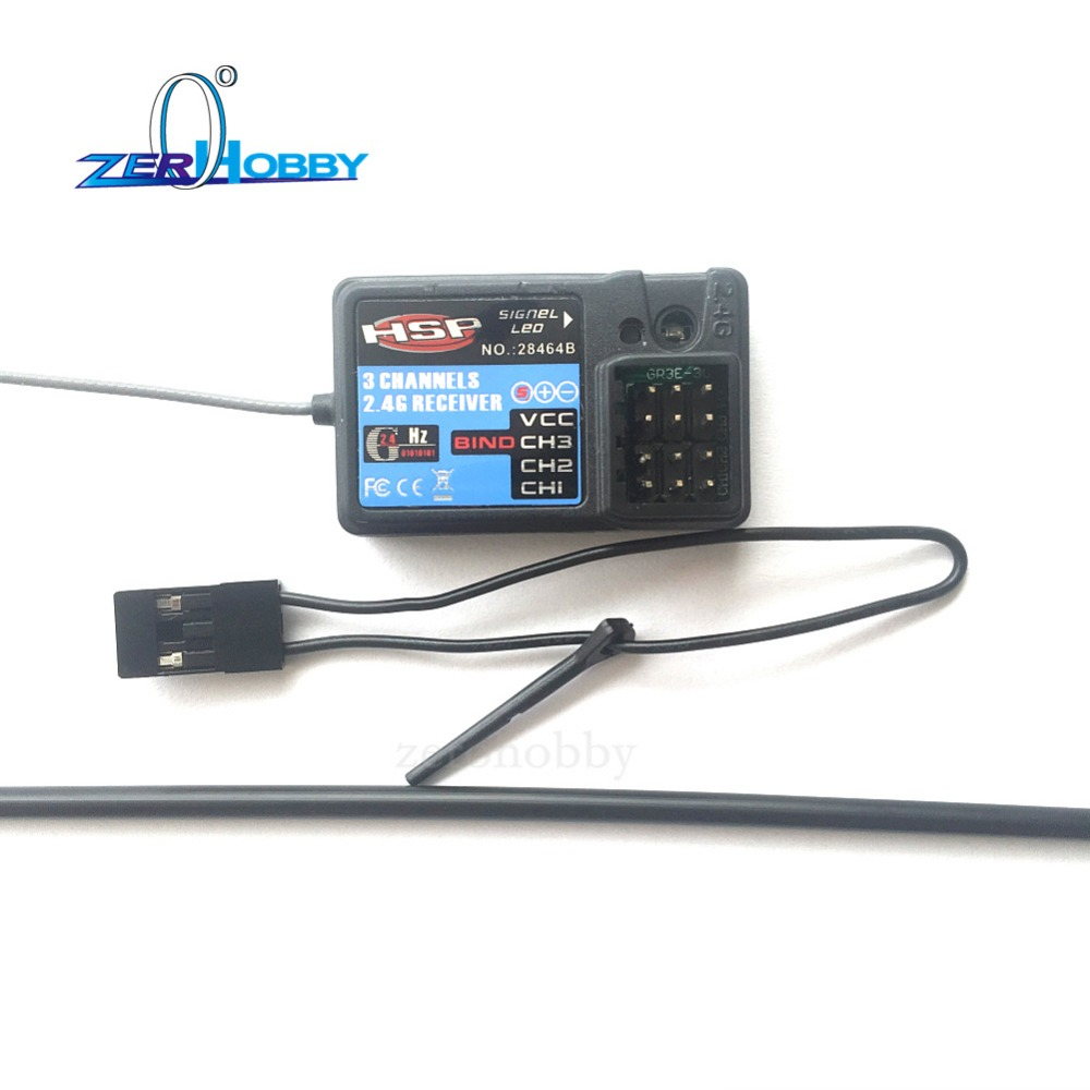HSP 2.4GHz 3 channel receiver 28464B (HSP-2.4GHz) 3 channel receiver for HSP Wind Hobby toy sports