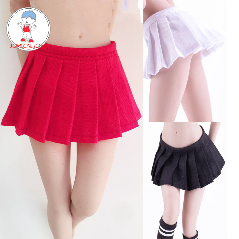 3 Colors <font><b>1/6</b></font> <font><b>Scale</b></font> <font><b>Female</b></font> Pleated Skirt Girl Students Short Skirt Student Figure <font><b>Clothes</b></font> Model for PH UD Action Figure Dolls image