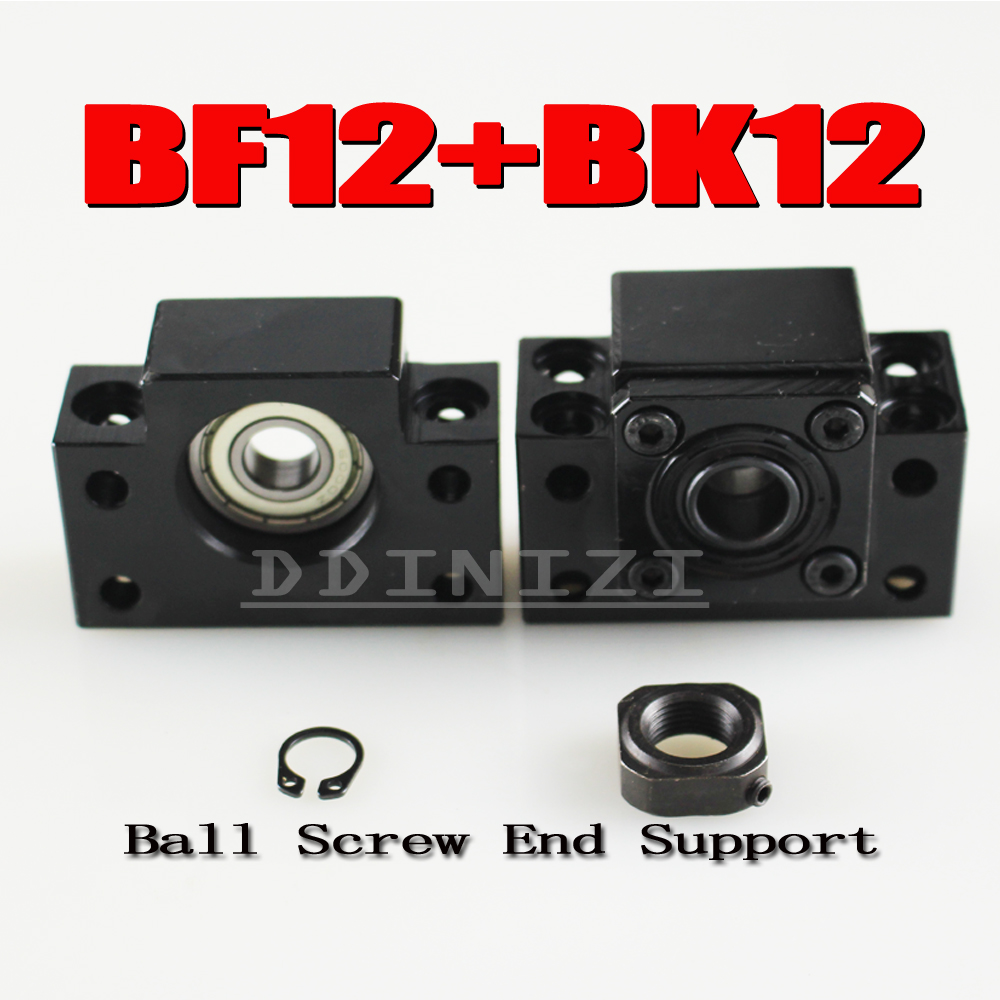<font><b>BK12</b></font> BF12 Set : 1 pc of <font><b>BK12</b></font> and 1 pc BF12 for SFU1605 Ball Screw End Support CNC parts BK/BF12 image