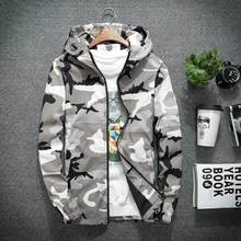 B 2019 New Military Camouflage Jacket Men Long Sleeve Hooded Hip Hop Streetwear Classic Casual Plus Size XS-5XL