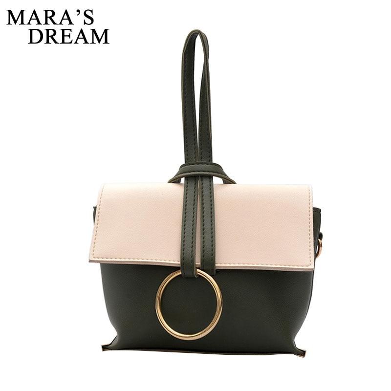 Mara's Dream 2017 Fashion Hand Bags Women PU leather Circular Bag Retro Metal Handbag Round Bag Female Shoulder Crossbody Bags mantra discobolo 4088