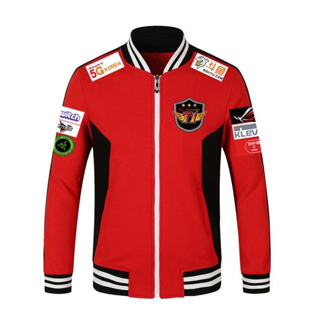 cf6d656f9 Print Type!!!LOL 2018 LCK SKT T1 S7 Team Jersey SK telecom T1 jacket ...