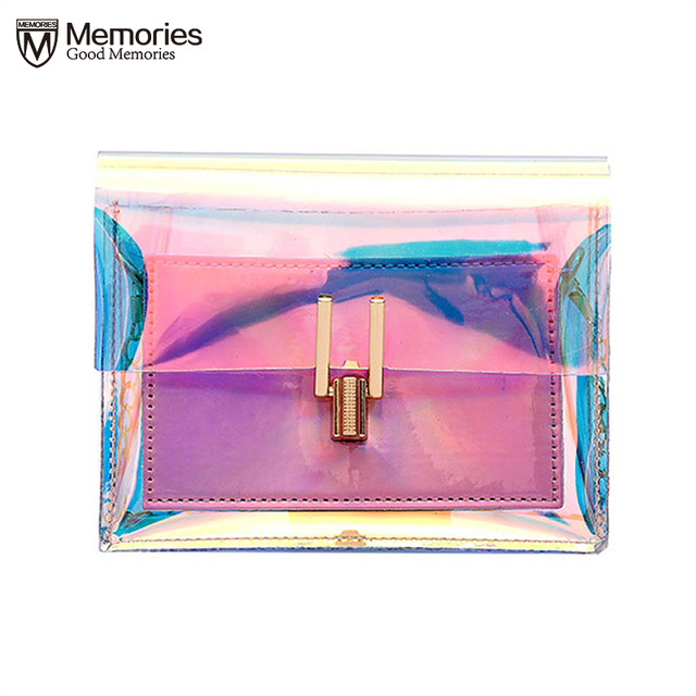 Women Transparent Bag Clear PVC Jelly Small Tote Messenger Bags Laser Holographic Shoulder Bags Female Lady Sac Femme Bandoulier 1