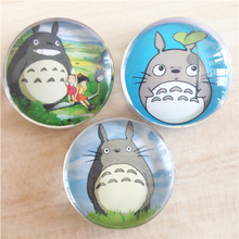 Totoro cartoon creative crystal glass 30mm fridge magnet