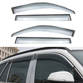 4pcs/lot Car Styling Vent Shade Sun Rain Guard Cover Window Visor For BMW X1 2012 2013 2014 2015 Accessories High Quality