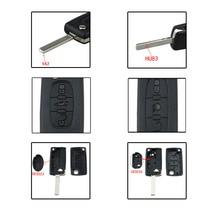 עבור פיג ו 307 408 308 עבור סיטרואן C2 C4 חכם רכב מפתח מעטפת 2/3/4 כפתורים רכב מרחוק מפתח fob מקרה כיסוי Flip מתקפל רכב מפתחות