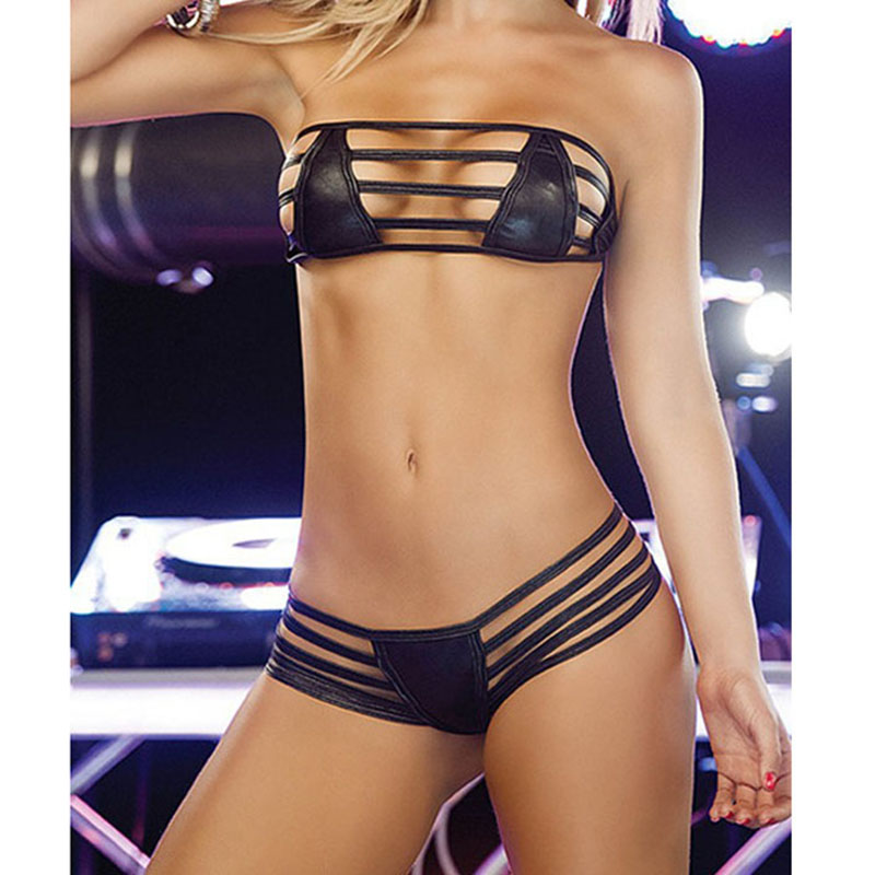 Erotic Lingerie For women sexy open bra+G thongs lingerie sexy Polo Dance Club Wear Women Erotic Costumes 2Colors Free shipping