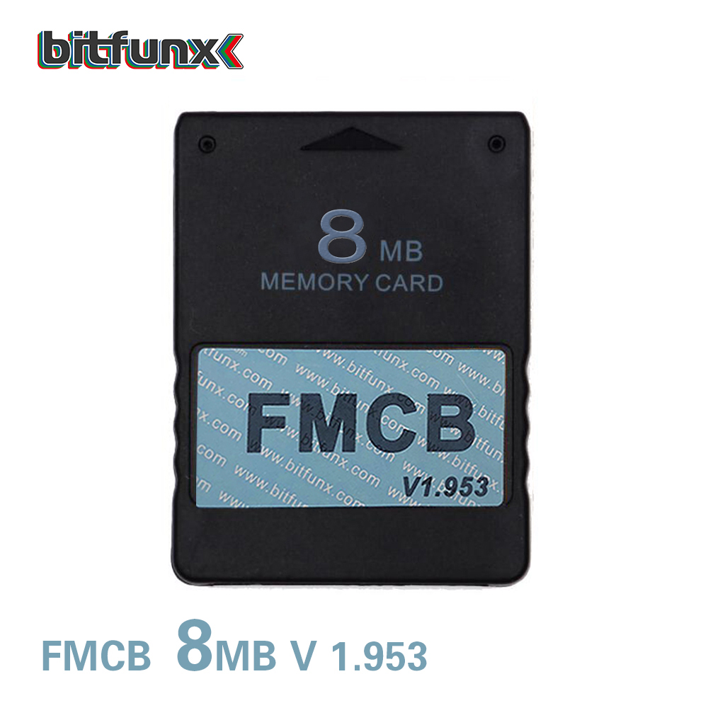 Bitfunx 8MB Free McBoot FMCB Memory Card For PS2 FMCB Memory Card V1.953