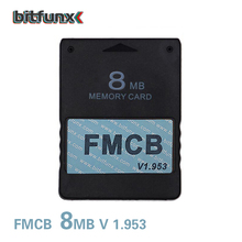 Bitfunx 8MB משלוח McBoot FMCB זיכרון כרטיס עבור PS2 FMCB זיכרון כרטיס v1.953