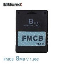 Bitfunx 8mb livre mcboot fmcb cartão de memória para ps2 fmcb cartão de memória v1.953