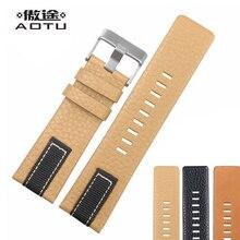 Genuine Leather Watchbands For Diesel 26mm 28mm Men Watch St
