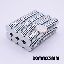 20/50pcs 20x3 Neodymium Magnet N35 Super Strong Rare Earth Disc 20mm x 3mm Fridge Permanet NdFeB Magnet Small Round Magnet 20*3