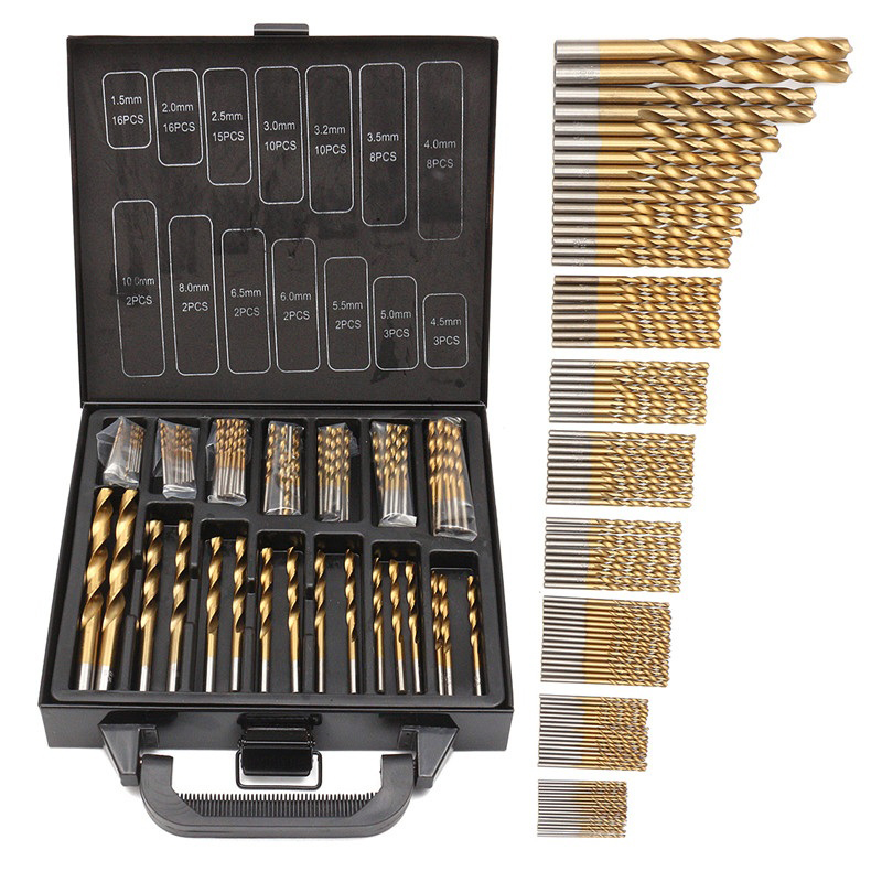 Titanium Drill Bit Set HSS 99 Pieces Twist Drill Bits Set Sizes 1.5-10mm Drilling Bits Kit for Plastic Copper Wood Metal игра настольная stupid casual дорожно ремонтный набор