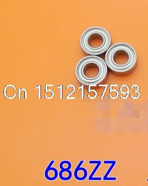 10pcs 6 x 13 x 5mm 686ZZ Deep Groove Ball Bearing 6*13*5 image
