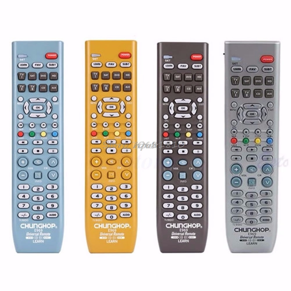 New 8in1 Smart Universal Remote Control Controller For TV SAT DVD CD AUX VCR New Z09 Drop ship universal remote control for tv vcr sat cable vcd dvd ld cd amp 2 aa