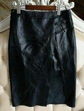 Arlenesain custom black sheep leather genuine leather dress. 513