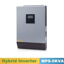 5000VA 4000 واط نقية شرط لموجة العاكس الهجين العاكس 48VDC المدخلات 220VAC الناتج مع تحكم شاحن طاقة شمسية MPPT 60A