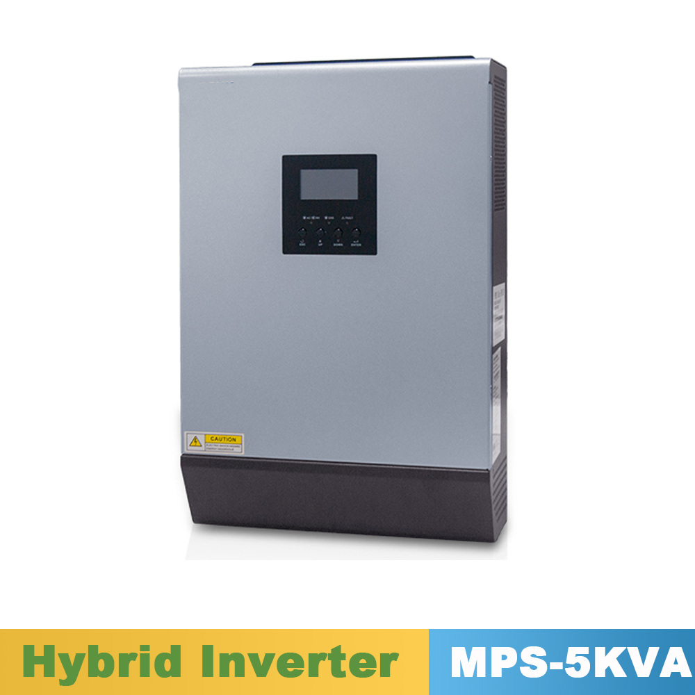 5000VA 4000 W Reine Sinus Welle Inverter Hybrid Inverter 48VDC Eingang 220VAC Ausgang mit MPPT Solar Ladegerät Controller 60A