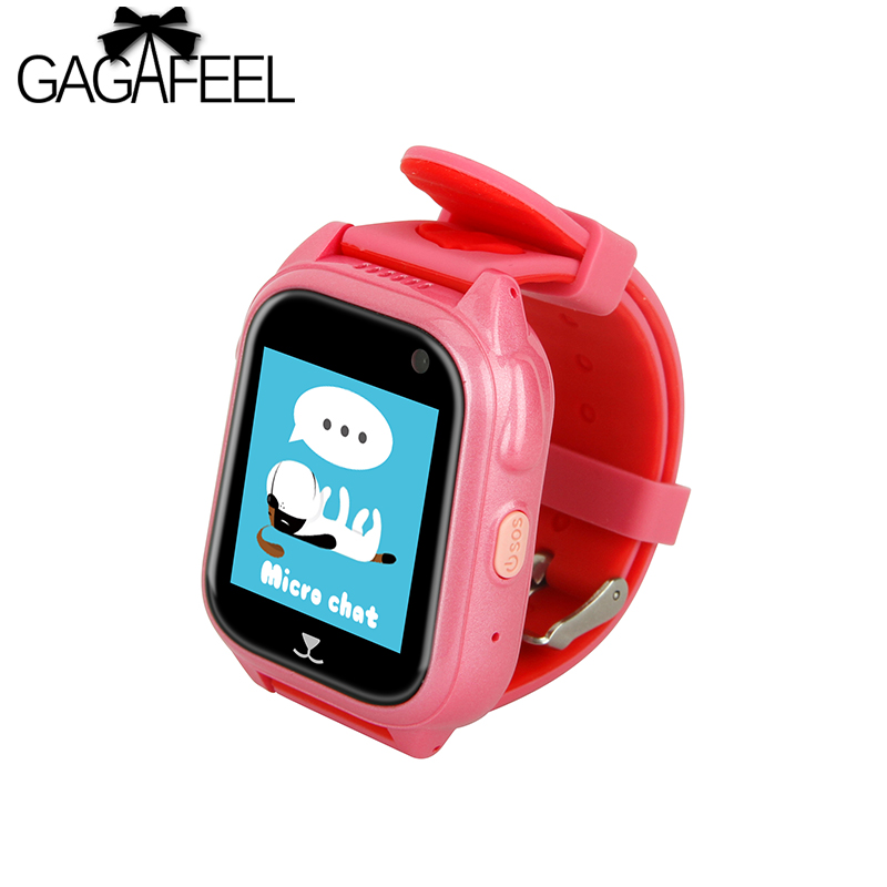 Smart Watch Child Safe Monitor GPS Tracker Kids Android IOS Waterproof Baby SOS Remote Monitor Camera SIM 2G Network Wristwatch diggro 2g 1 44 inch touch kids gps tracker smart watch with camera 2g sim calls chat anti lost sos remote children safety monitor health helper flashlight for android ios three colors