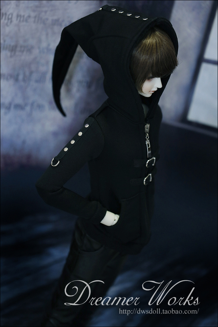 1/4 1/3 scale BJD doll clothing Punk Hooded jacket for BJD/SD accessory.Not included  doll,shoes,wig and other 17C3362