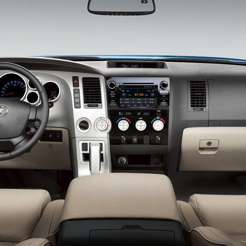 2din Android 8,1 4 ядра автомобильный DVD радио плеер для Toyota Tundra 2013-2007 и Sequoia 2008-2015 аудио стерео gps Navi ips Wifi DVR