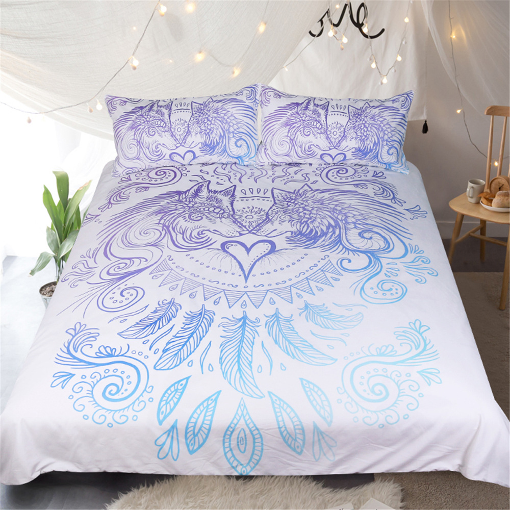 beautiful white queen size beds from us stores | 2018 New Bed set wolf Dream catcher Bedding Set Queen Size ...