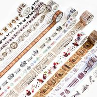 20 stks/partij DIY Japanse Papier Decoratieve Plakband Vintage Retro geheugen serie newsapaper Washi Tape/Afplakband Stickers