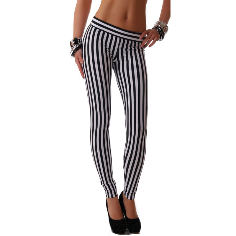 Online Buy Wholesale black white leggings from China black white ...
