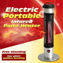 65cm Water Proof Factory Supplier Free Standing Electric Heater Portable Infared Stand Alone Patio Heaters VDE Approved