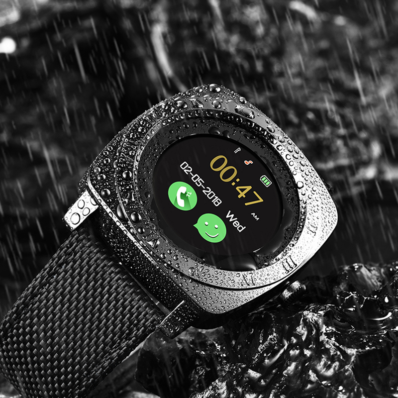 BANGWEI 2018 New Smart Watch Men Women Sport LED Color Touch Screen Smartwatch Support SIM Card Facebook For Android Phone+Box