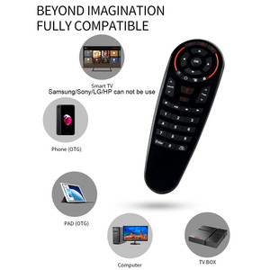 Image 5 - Wechip G30 Voice Remote Control 2.4G Wireless Air Mouse Microphone Gyroscope IR Learning for Android tv box HK1 H96 Max X96 mini