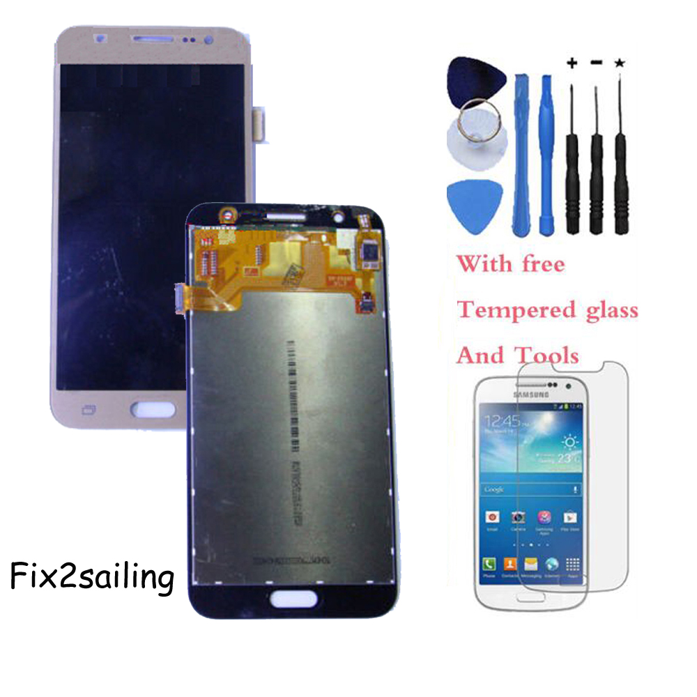 OEM 100% Test LCD Display Touch Screen Digitizer For Samsung Galaxy J5 J5008 17Pin White/Black/Gold With Tempered Glass+Tools