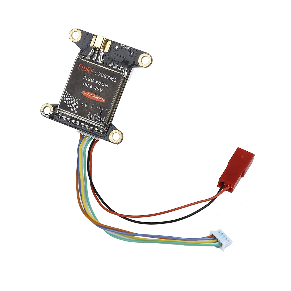 купить EWRF e709TM3 5.8G 200mW 48CH FPV Wireless AV Transmitter Module 5V for F3 F4 Flight Controller недорого