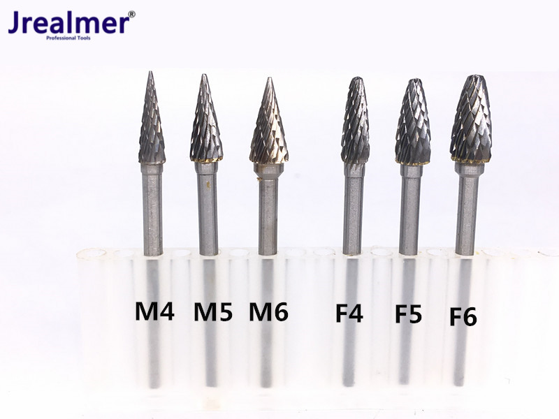 цена на Jrealmer F and M Size Tungsten Steel Carbide Burr free shipping Cutter Rotary Tool Burr Double Diamond Cut Rotary Dremel Tools