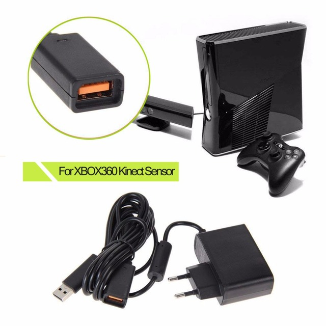 Wholesale FW1S New EU USB AC Adapter Power Supply for Xbox 360 for XBOX360 Kinect Sensor