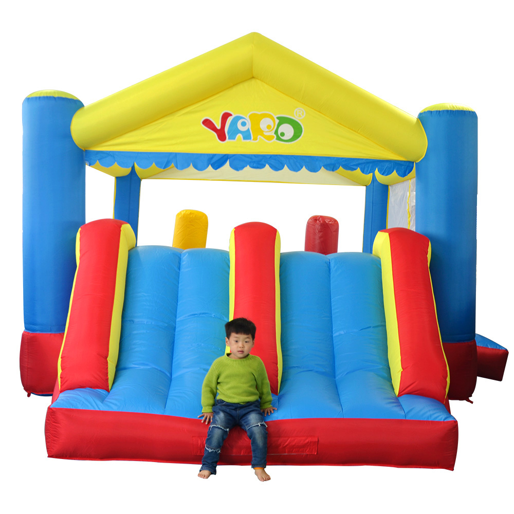 цена на Free Balls YARD Kids Inflatable Bouncer Trampoline Double Slides Obstacle House Castle 5x4x2.7m Ship Express Christmas