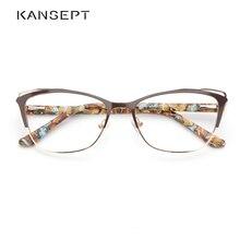 Metal kadın moda kedi göz gözlük çerçeve optik gözlük çerçeveleri Retro gözlük şeffaf bilgisayar gözlük kadınlar için